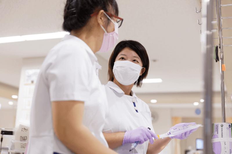 抗がん剤の投薬準備