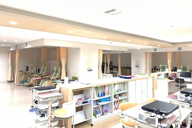 外来化学療法室の全景
